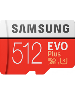 Evo + 512 GB micro SD class 10 - with adapter up to R100 MBs/ W90
